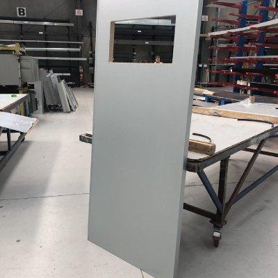 Steel door covers
