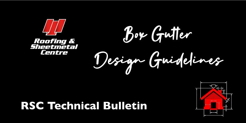 Box gutter design guidelines